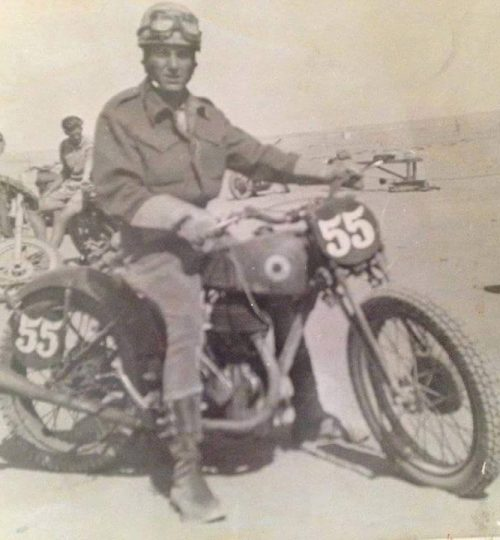 A Bell WW2 astride Norton from Face book page