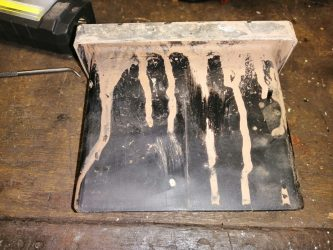Air box with sand stains
