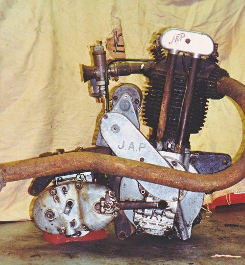 J.A.P. Engine as found at Warnham Museum 1991