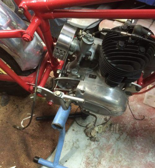 Engine back in D.O.T. frame