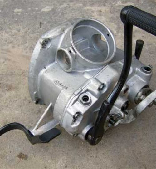 Gear box with reverse