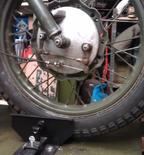 Tried to upgrade front brakes , failed