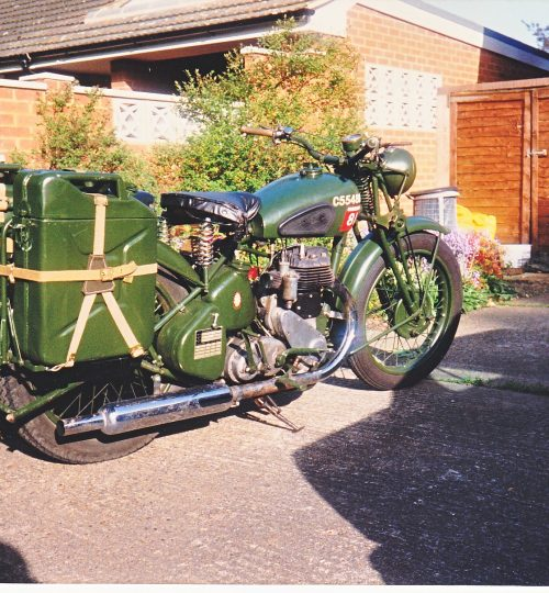 Jerry cans used as panniers for a time