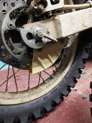 Rear brake disc shield June 21