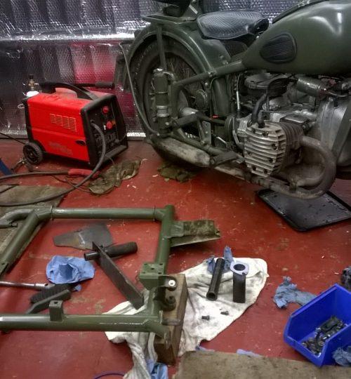 Side car axle overhaul