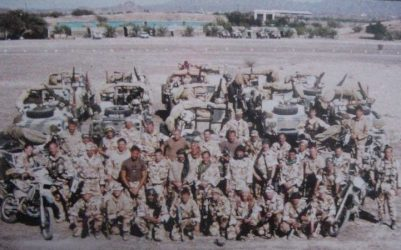 A Squadron 22 SAS before deployment during OP Granby